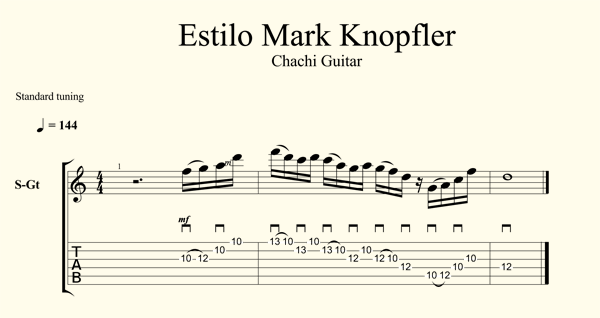 Estilo Mark Knopfler Sultans Of Swing Tab Chachi Guitar